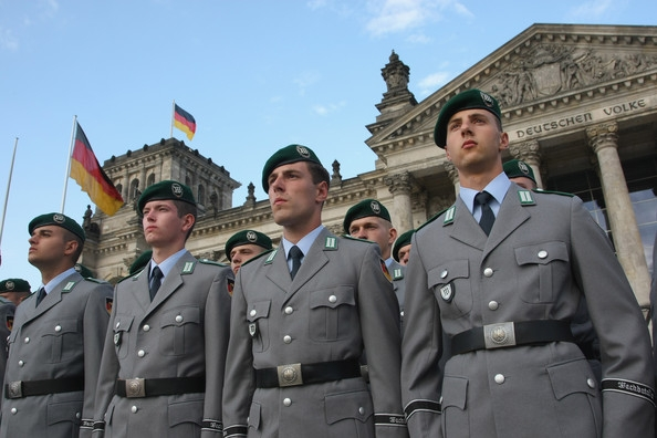 Swearing In Ceremony For German Recruits