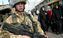 A young British soldier. Photograph: Shawn Baldwin/EPA