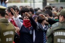 Manifestación en Santiago, Chile